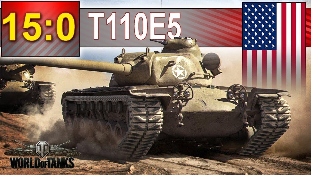 T110E5 – 15 : 0 – jak to się stało? – BITWA – World of Tanks