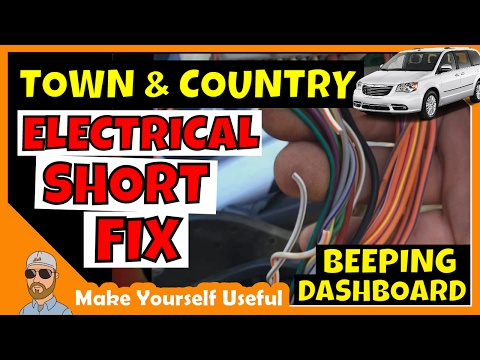 Town And Country Electrical Short | Chrysler Town And Country Wire Harness Beeping Dashboard Fix