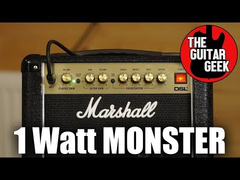 Marshall DSL-1 Combo Amp Review -  Mini and Mighty or Tiny and Terrible?