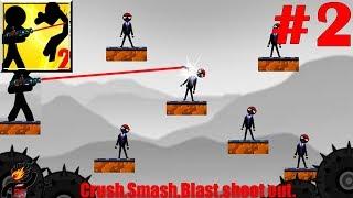 Stickman Destruction Warrior 2 Walkthrough All Levels Part 2 / Android Gameplay HD