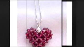 Handcrafted Valentine Swarovski Puffy Heart Jewelry - Fashionjewelryforeveryone.com