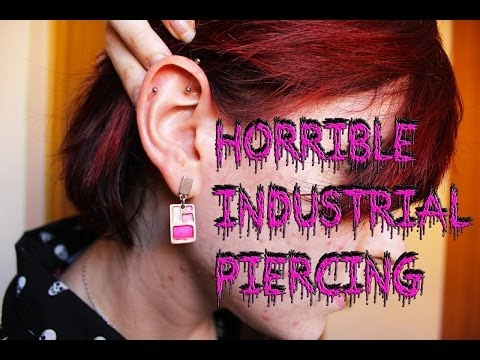 Industrial Piercing gone wrong (HORRIBLE EXPERIENCE) / Piercing Industrial Sale Mal Experiencia
