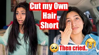 CUT my BEAUTIFUL LONG Hair SHORT-- then regretted