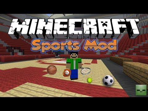 Minecraft Mods: Sports Mod [Fútbol, Basket, Tenis, Beisbol][Forge][1.7.10](Act.)