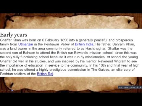 What Is The History Of Khān Abdul Ghaffār Khān