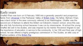 What Is The History Of Khān Abdul Ghaffār Khān