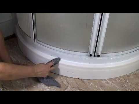 how to caulk a fiberglass shower youtube. Black Bedroom Furniture Sets. Home Design Ideas