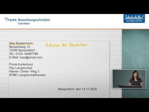 Eine Bewerbung Schreiben // Schreiben // Deutsch // Schülerhilfe