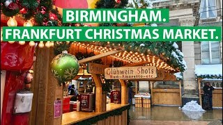 Frankfurt Christmas Market in Birmingham: England trifft Deutschland