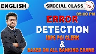 Error Detection | Special Class | English | All Banking Exams | 5:00 pm