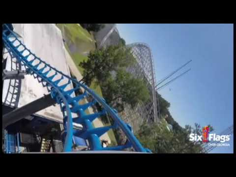 POV: ALL NEW Blue Hawk at Six Flags Over Georgia