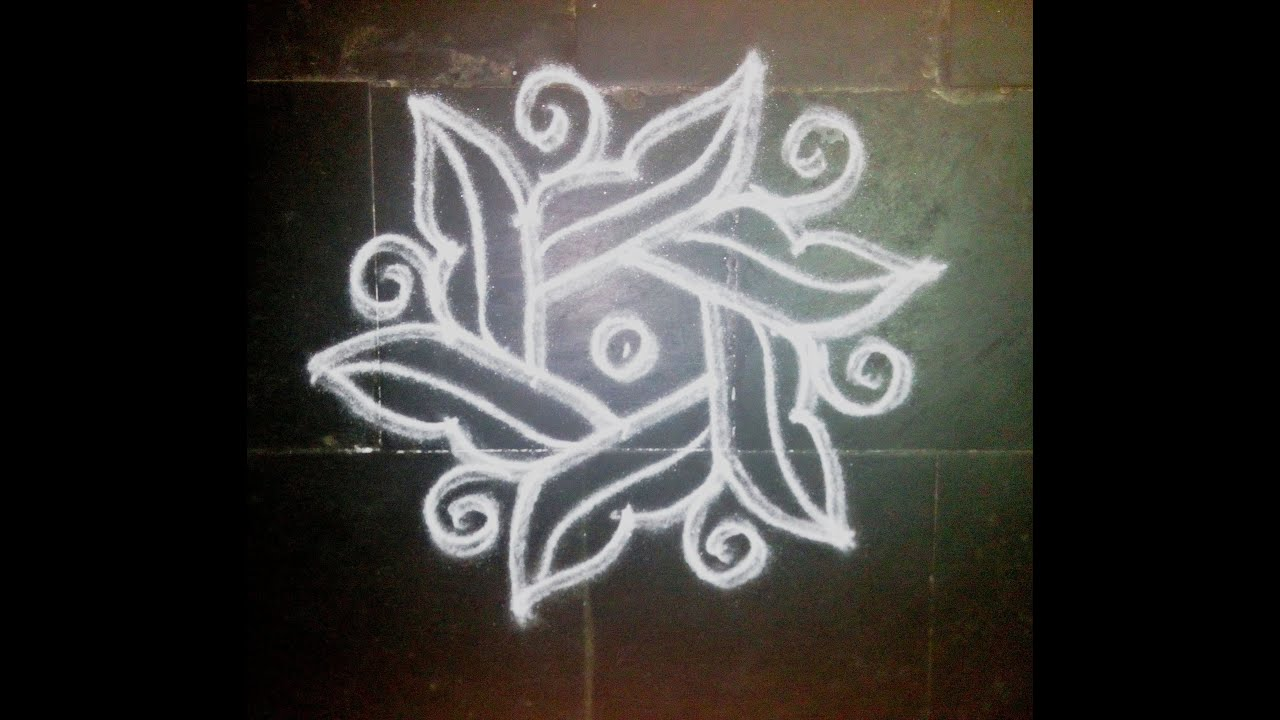 SIMPLE DOTTED KOLAM WITH 5-3 DOTS - YouTube