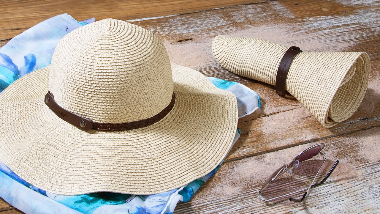 3cac0b5c4e3 How do you pack a sun hat  - YouTube