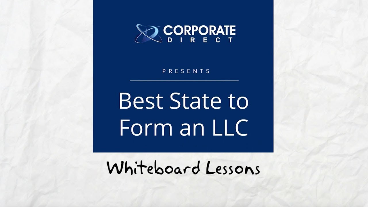 Best State to Form an LLC - YouTube