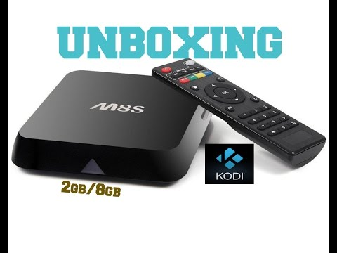 M8S ANDROID TV BOX UNBOXING
