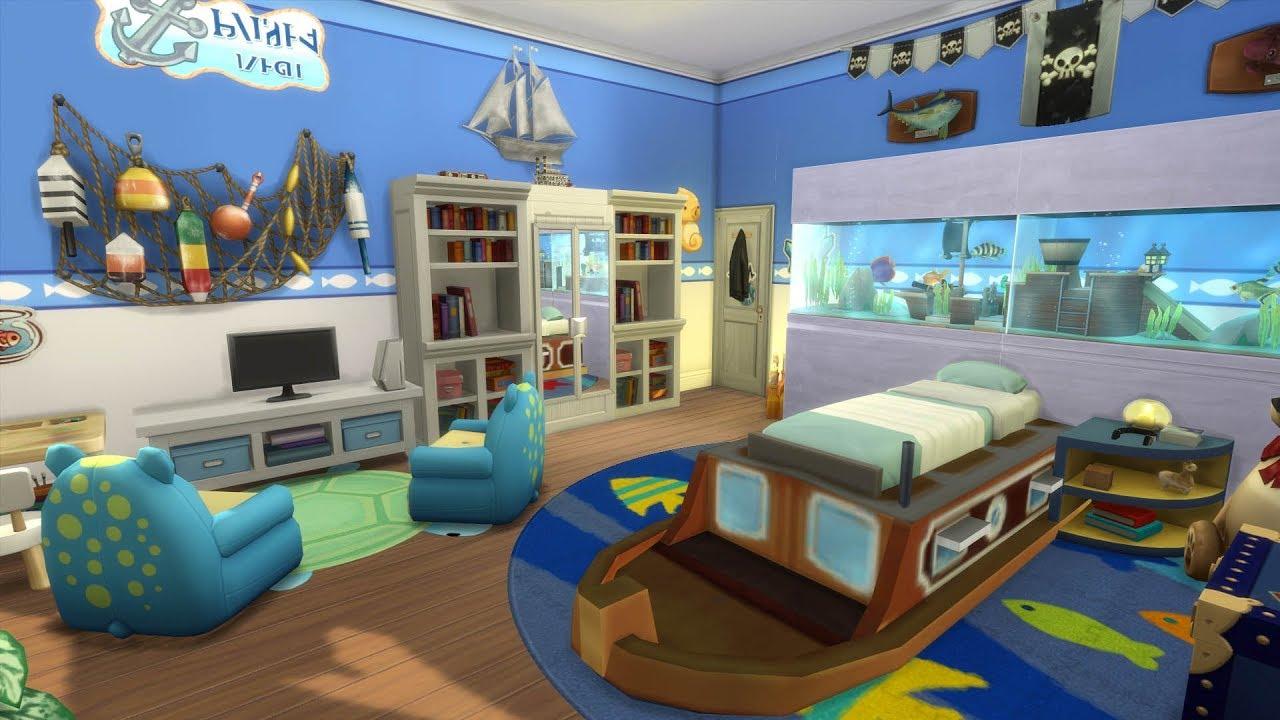 les sims 4 : chambre d'enfant / sans cc - youtube