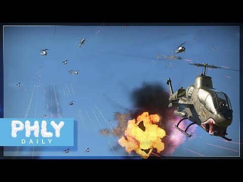 35 ATTACK HELICOPTERS vs 4 Radar Guided Anti Air (War Thunder Crazy Custom Battle)