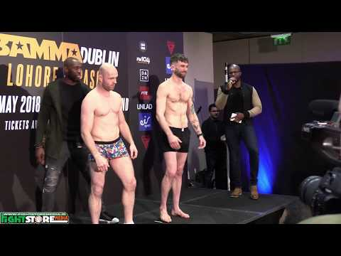 Bamma 35 Weigh Ins from the Green Isle Hotel, Dublin