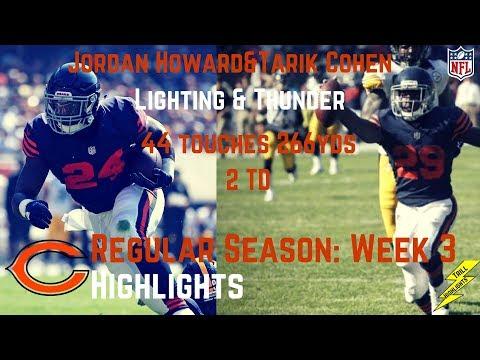 Jordan Howard & Tarik Cohen Week 3 Regular Season Highlights Lighting & Thunder! | 9/24/2017