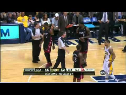 Dwyane Wade , Danny Granger confrontation Heat-Pacers Game 4