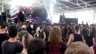 Monuments - Part of Degenerate live at soundwave 2015 - wall of death mosh
