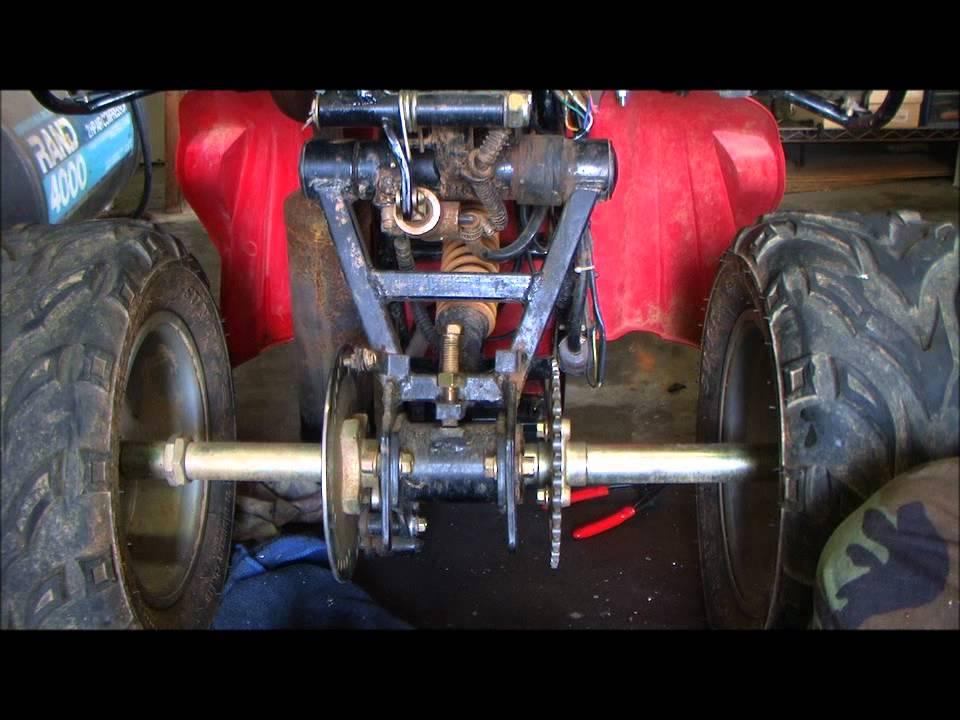 Servicing a chain on a Kazuma ATV/4 wheeler