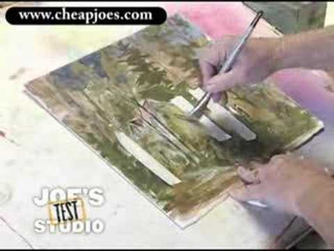 Using Artist Tape/ Fritch Scrubber