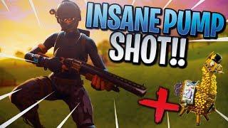 INSANE PUMP SHOT + SECRET *RARE* LLAMA!! FORTNITE SPECIAL LLAMA SPOTTED & INSANE PUMP SHOT...