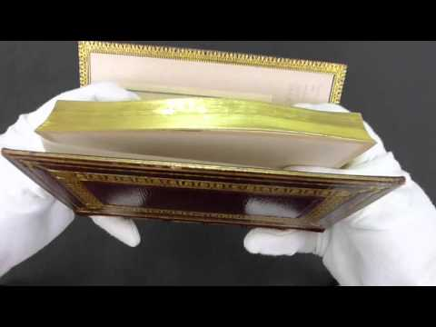 Painting hidden in gilt edges of rare book