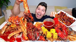 Massive $700 Seafood Boil • King Crab, Lobster, Crawfish, Shrimp, & Scallops • MUKBANG