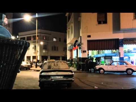 Nočni život v Rabat. Night life in Rabat.