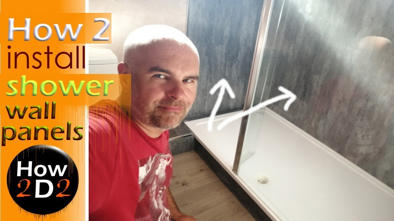 How To Install Shower Wall Boards Bathroom Panels Fitting Splashback Youtube