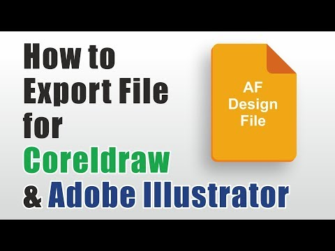 Affinity Designer Tutorial | How to Export vector files for