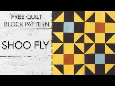 FREE Quilt Block Pattern: Shoo Fly