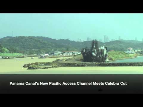 Panama Canal's New Pacific Access Channel Meets Culebra Cut