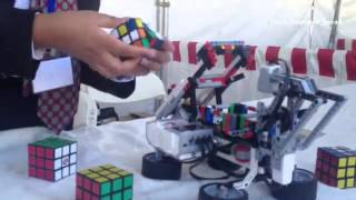 Saurabh Narain , 13 Of Freemont And His Rubik's  Cube Solving Machine He Made With Legos At The Mak