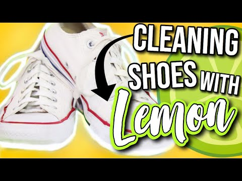 HOW TO CLEAN YOUR WHITE SHOES WITH LEMON?! | DIYHOLIC