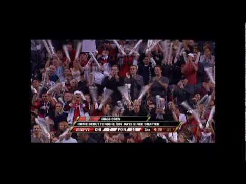 Greg Oden Home Debut vs Chicago Bulls