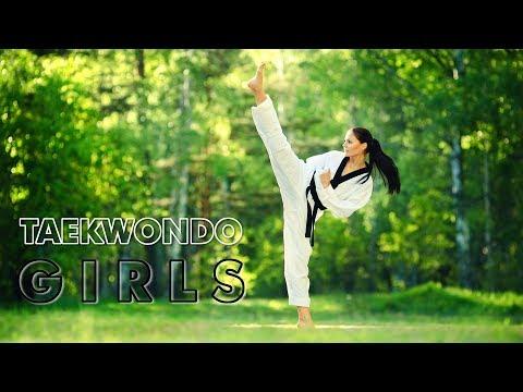 Amazing Taekwondo Girls Kicks Training And Fantastic Skills