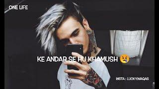 In Aankho Mein Hai Anshu 😭 Sad Shayari New WhatsApp status Sadstatus