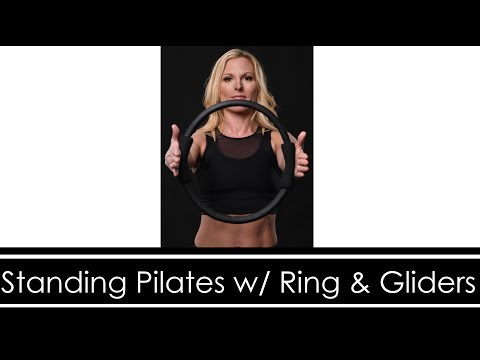 STANDING PILATES WORKOUT with RING & GLIDERS (LOWER BODY BURN)