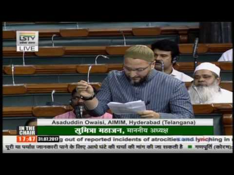 Asaduddin Owaisi Speech @ Mob Lynching & Violence in the Country    Parliament Monsoon Session