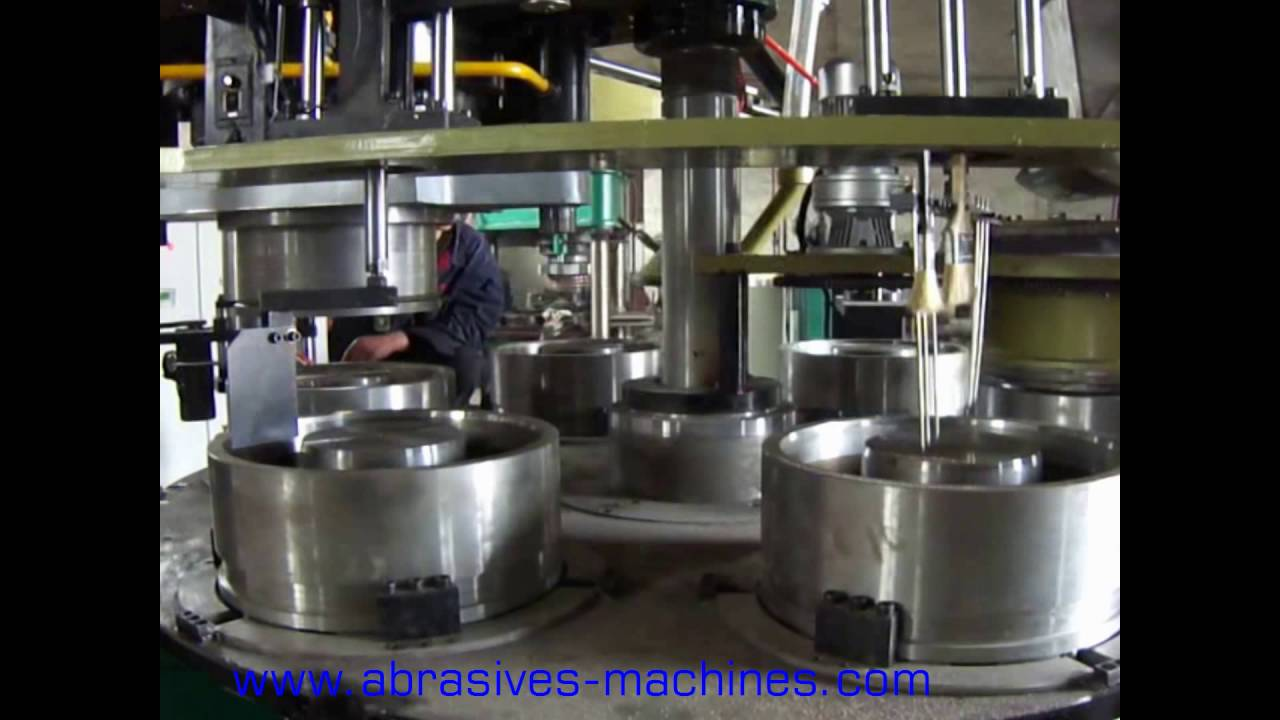 Ceramic grinding wheel making machine - YouTube