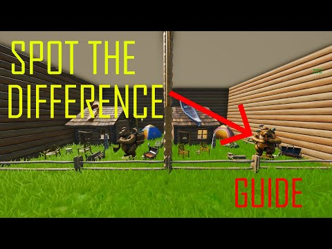 How To Complete Spot The Difference Chapter 2 By Derponce + Secret Code - Fortnite Creative Guide