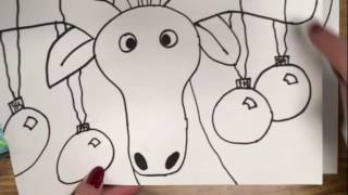 How to draw a moose for kids tutorials and online canvas how to draw a fun holiday moose for young kids thecheapjerseys Gallery