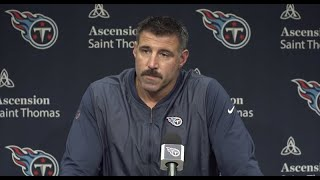 Titans Coach Mike Vrabel: I Don't Think the Answer is a Revolving Door at QB