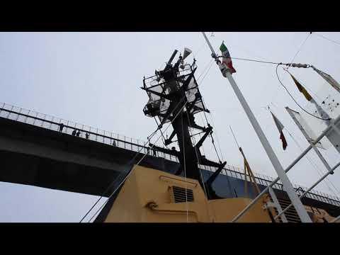 """""""Alliance"""" under the bridge - Tromso (Norway) - Oceanographic cruise  HN17"""