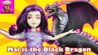 Mal is the Black Dragon  Part 2 The Curse of Black Dragon Descendants Disney