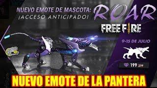 🔴 Nuevo Emote de la Pantera!! - Free Fire - Día de Patros!!!