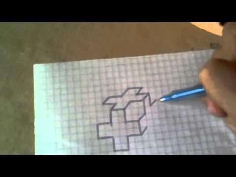 Как нарисовать 3D крест